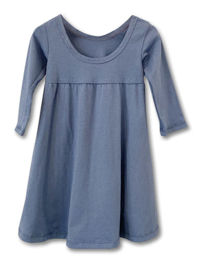 Dusty Blue - Long Sleeve Everyday Dress