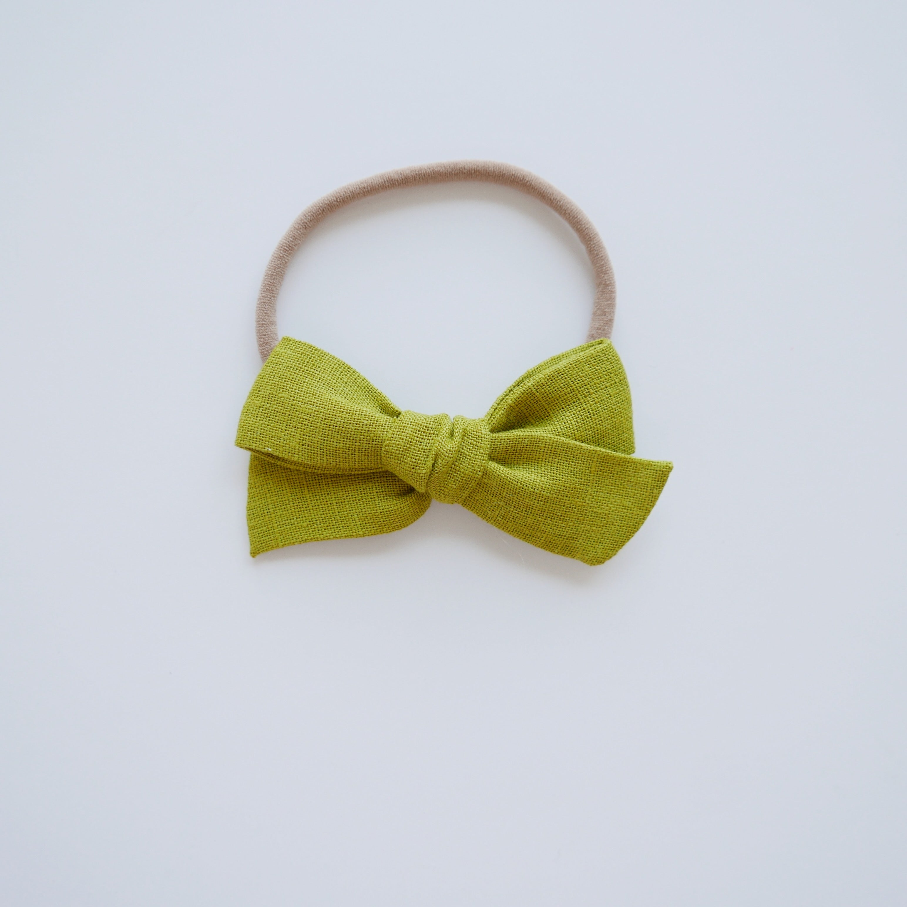 Chartreuse Linen- Little Mess Bow