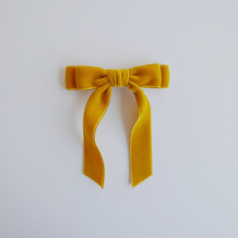 Golden Girl - Velvet Ponytail Bow