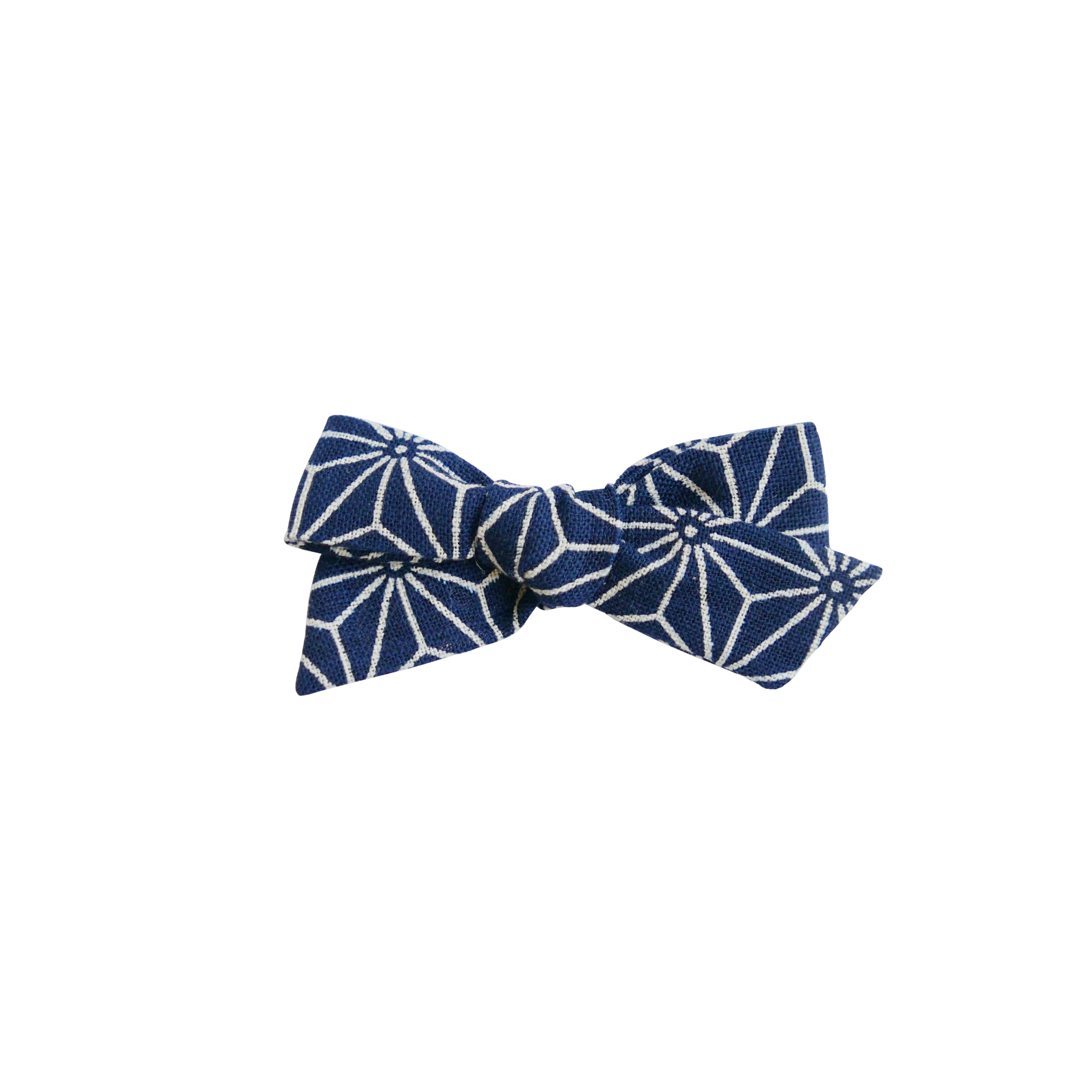 Navy Stars Linen - Little Mess Bow