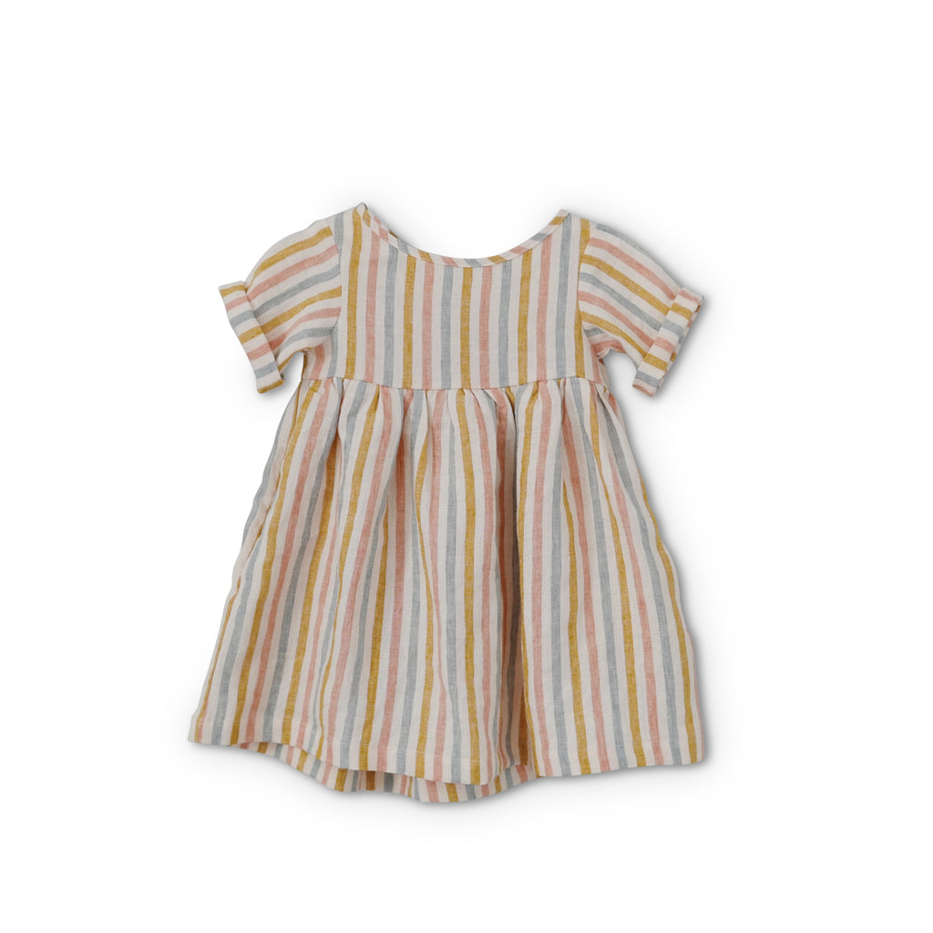 Happy Stripe Linen - Pippa Dress