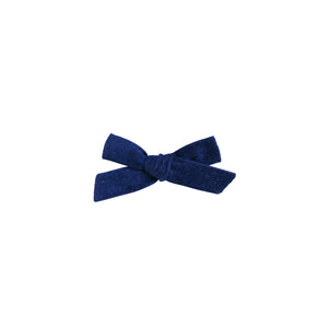 Navy Corduroy - Cotton Schoolgirl Bow