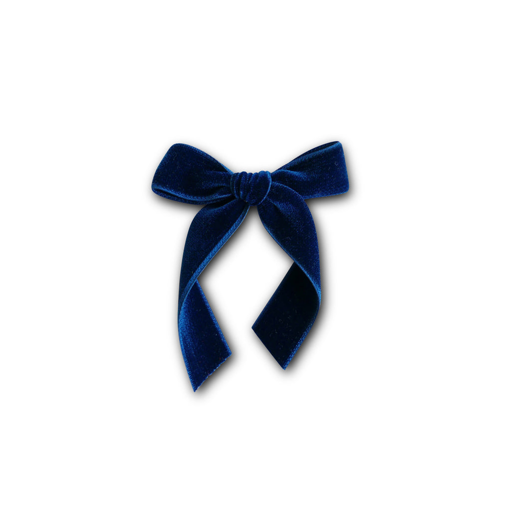 Indigo - Velvet Cheer Bow