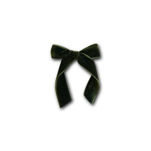 Bright Olive - Velvet Cheer Bow