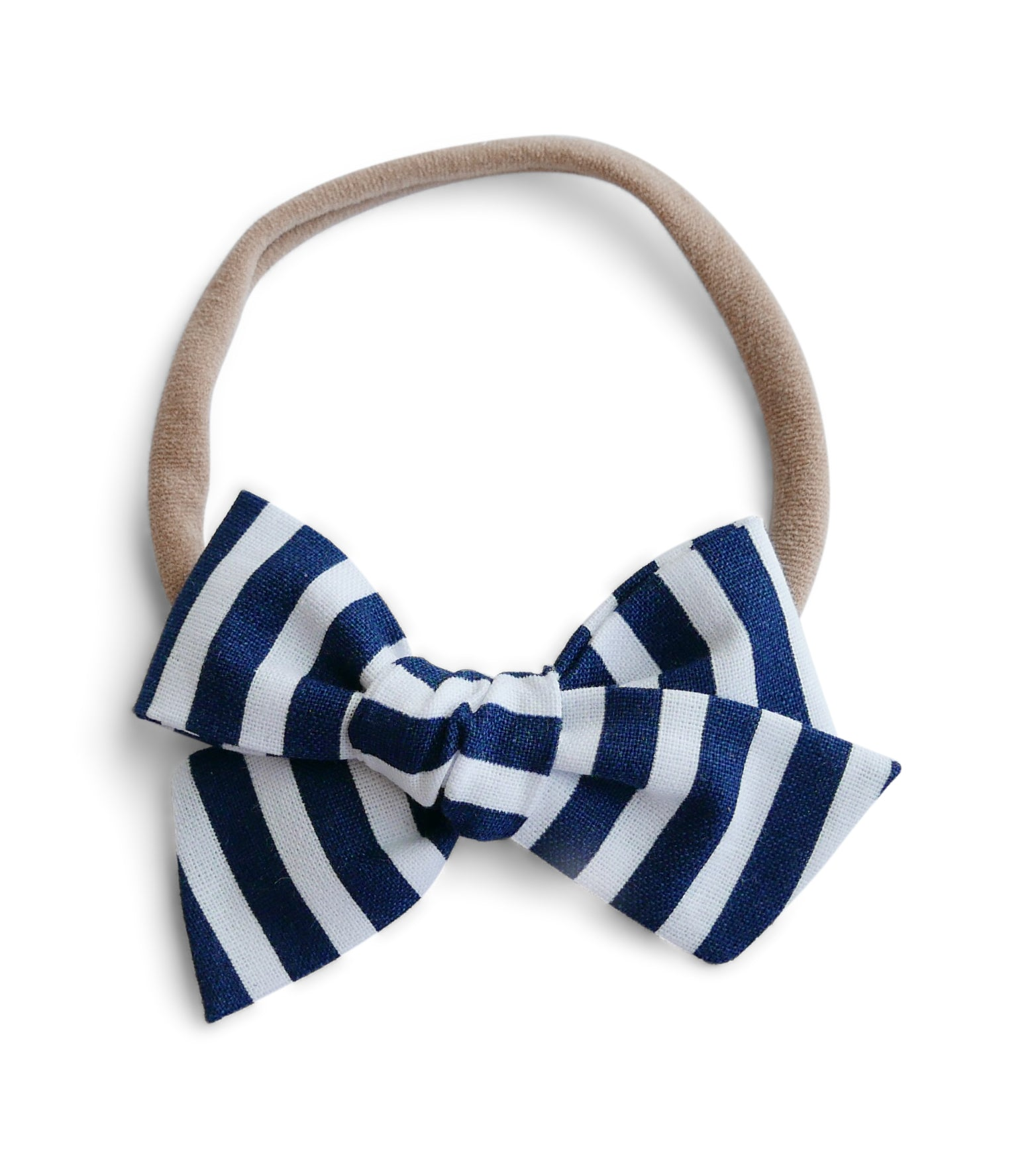 Navy Stripe - Baby Mess Bow