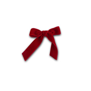 Berry Red - Velvet Cheer Bow