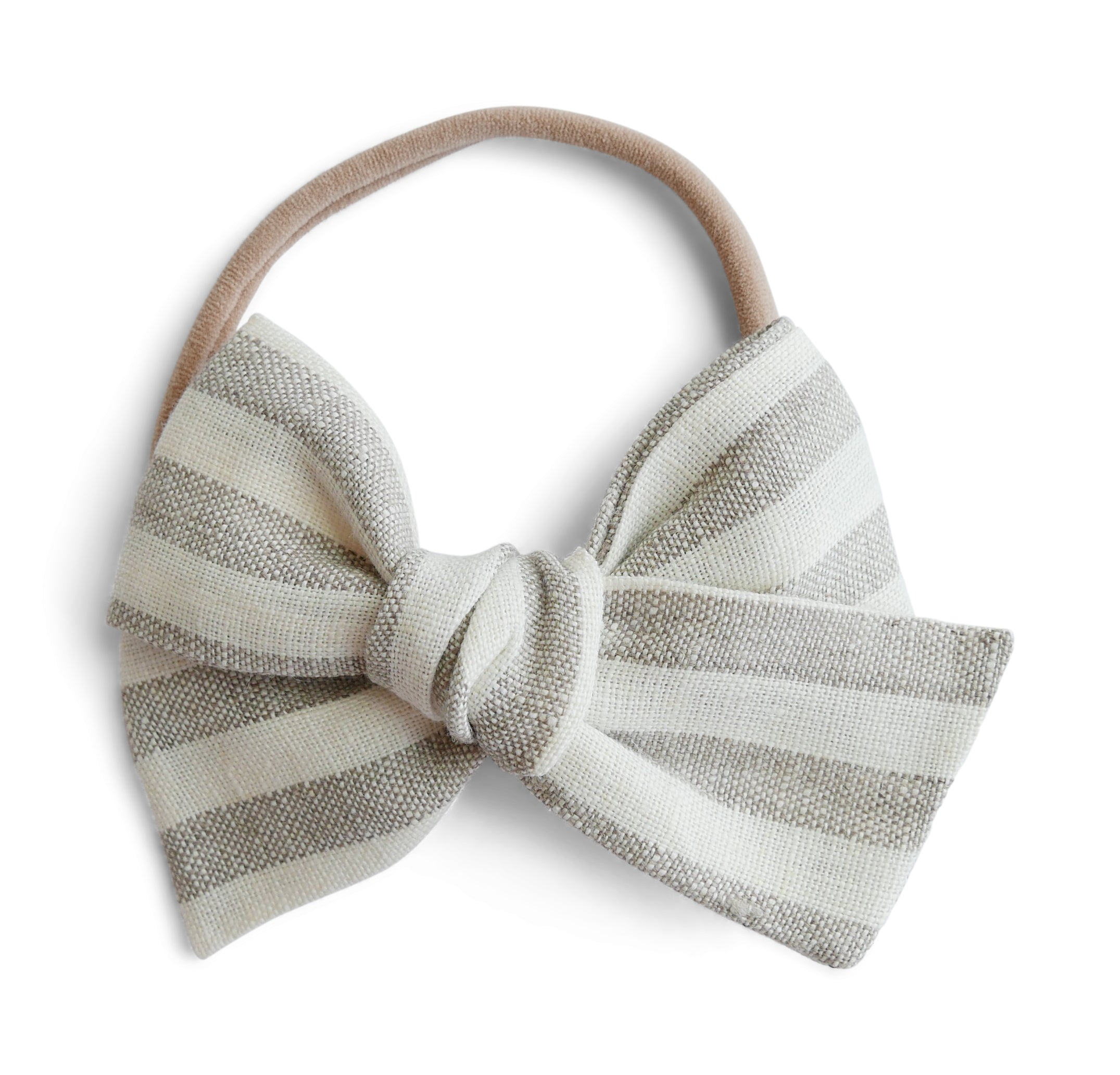 Flax Stripe Linen - Big Mess Bow