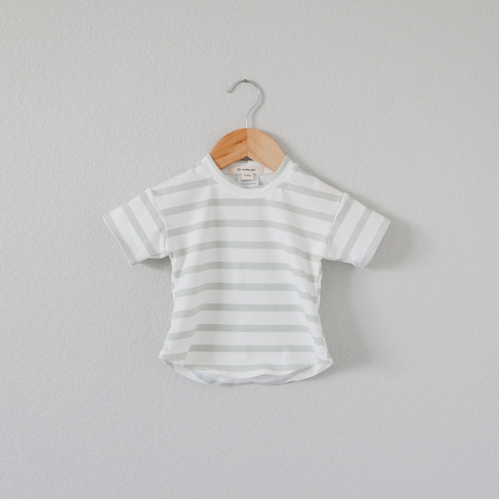 Seafoam Stripe - Perfect Tee