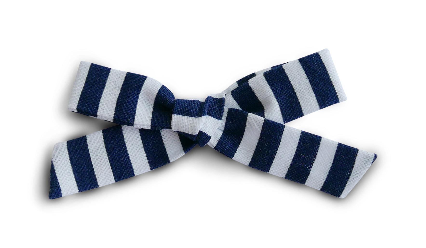 Navy Stripe - Cotton Schoolgirl Bow