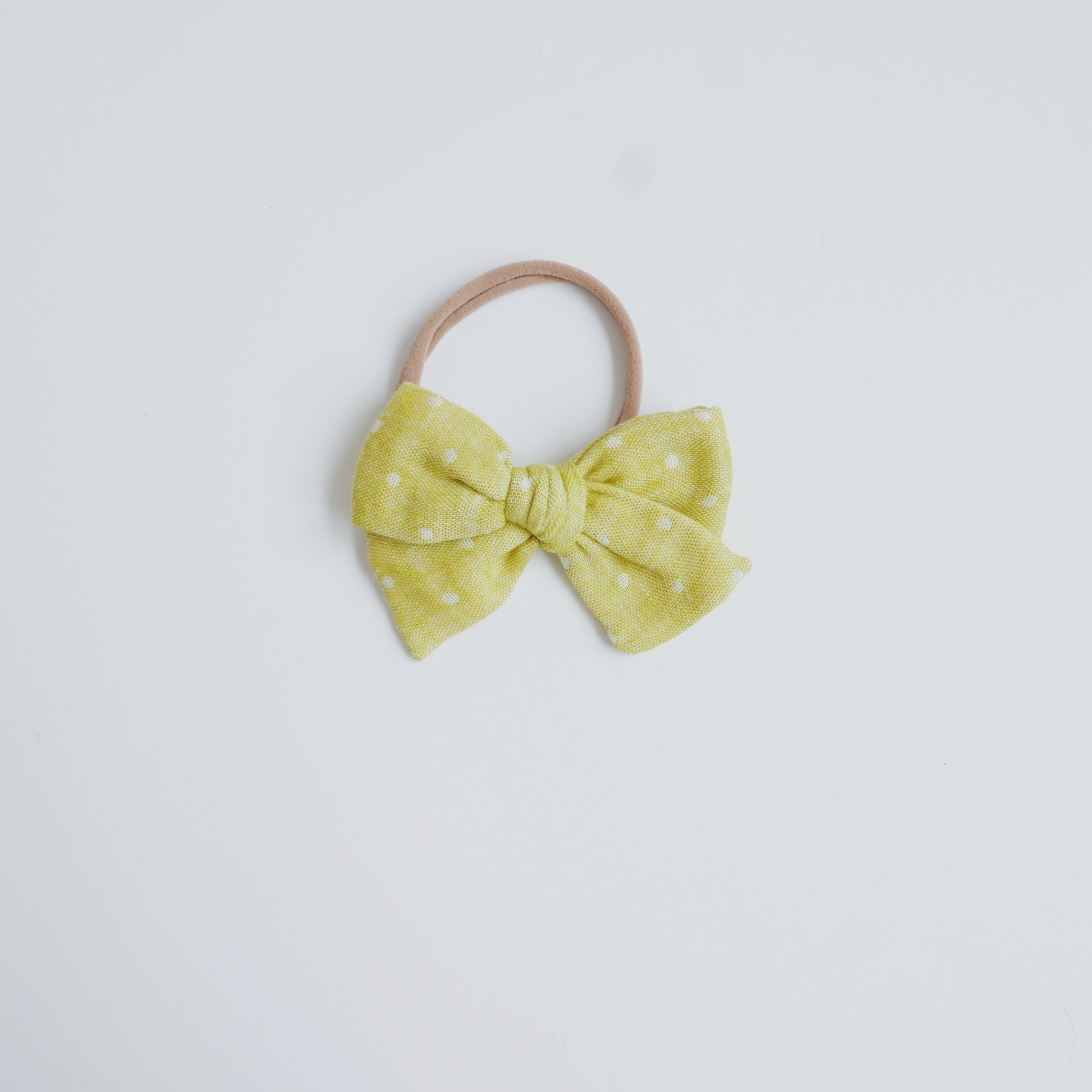 Sunshine Dot- Little Mess Bow