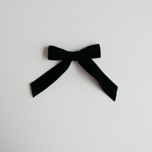 Deep Navy - Velvet Cheer Bow