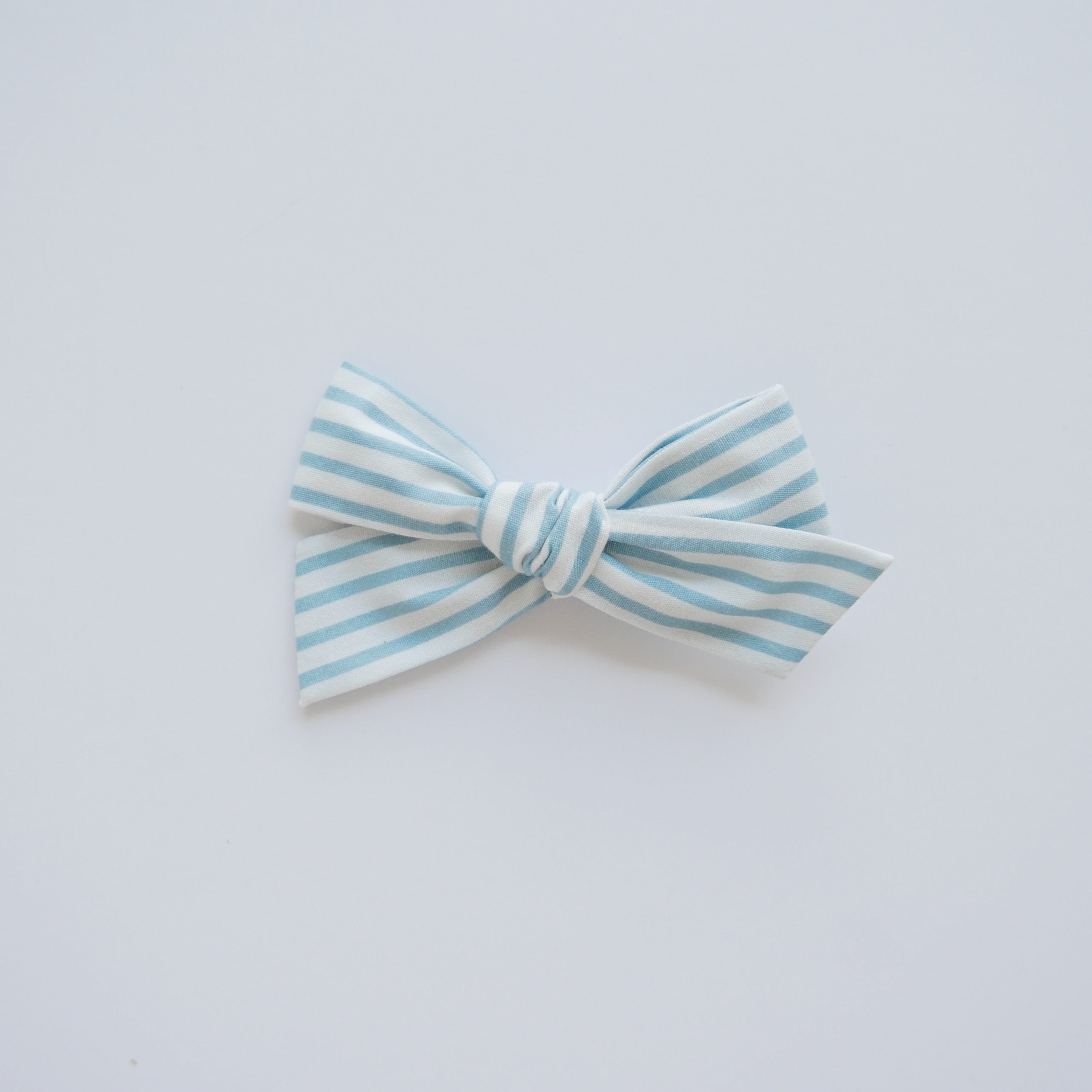 Blue Sky Stripe - Little Mess Bow
