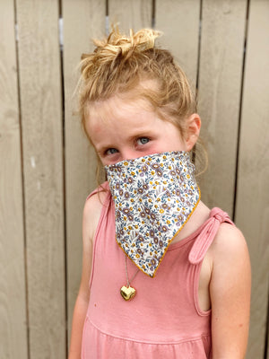 Kid's Kerchief in Clementine Liberty