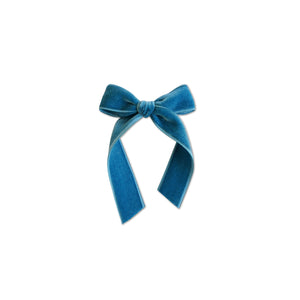 French Blue - Velvet Cheer Bow