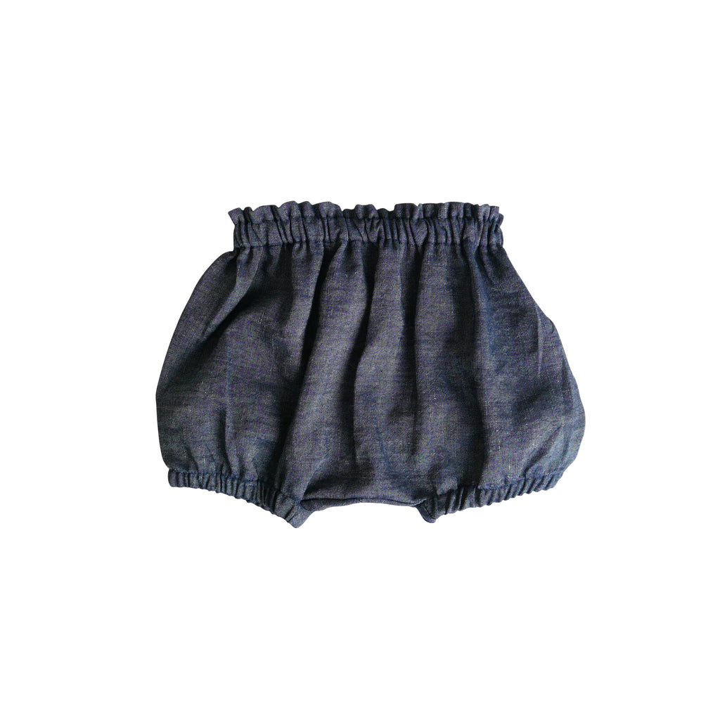 Indigo Chambray Linen - Goldie Bloomers