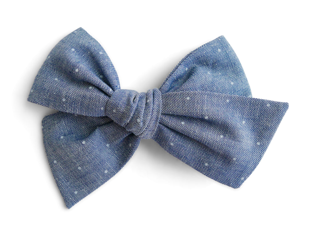 Chambray Pindot - Big Mess Bow