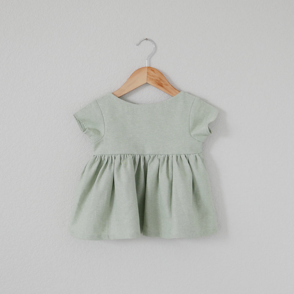 Seafoam Linen - Holland Blouse