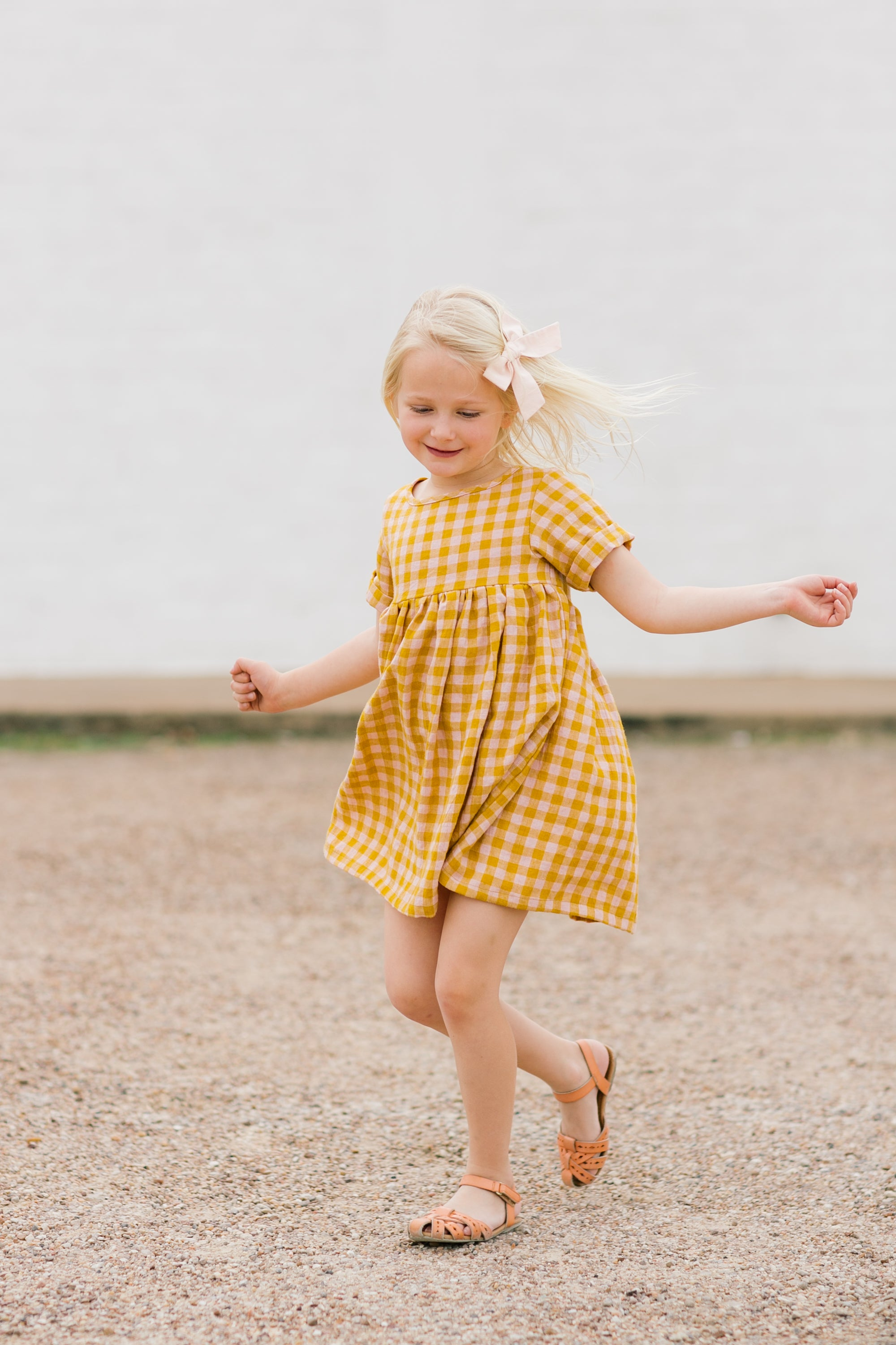 Sunshine Plaid Linen - Pippa Dress
