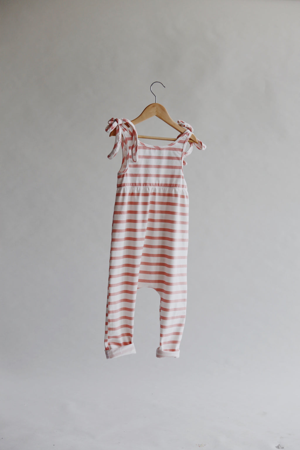 Strawberry Stripe- Hadley Romper