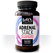 Wild Superfoods Adrenal Stack with Ginseng, Rhodiola & Ashwagandha (180 Capsules) - Wild Superfoods