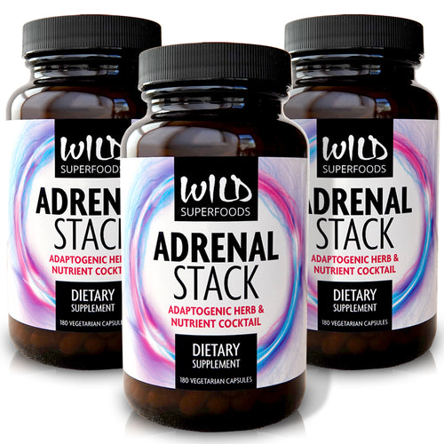 Wild Superfoods: Adrenal Stack (180 Capsules) 3-Pack