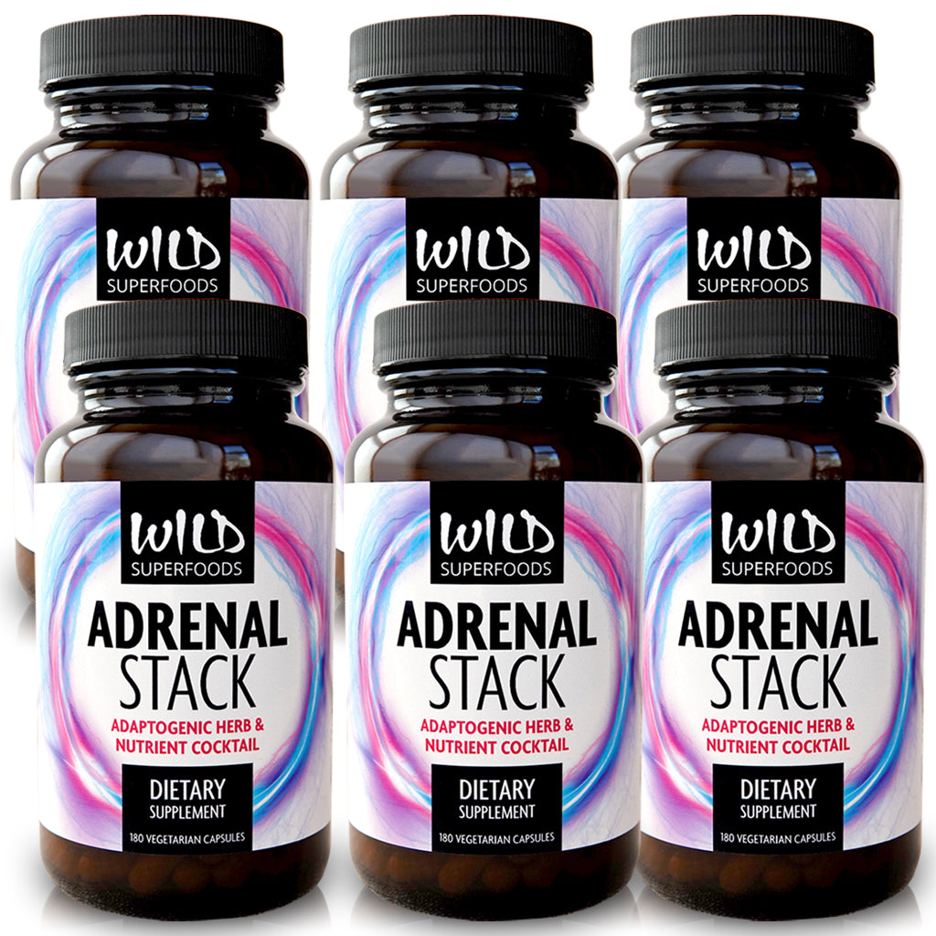 Wild Superfoods: Adrenal Stack (180 Capsules) 6-Pack