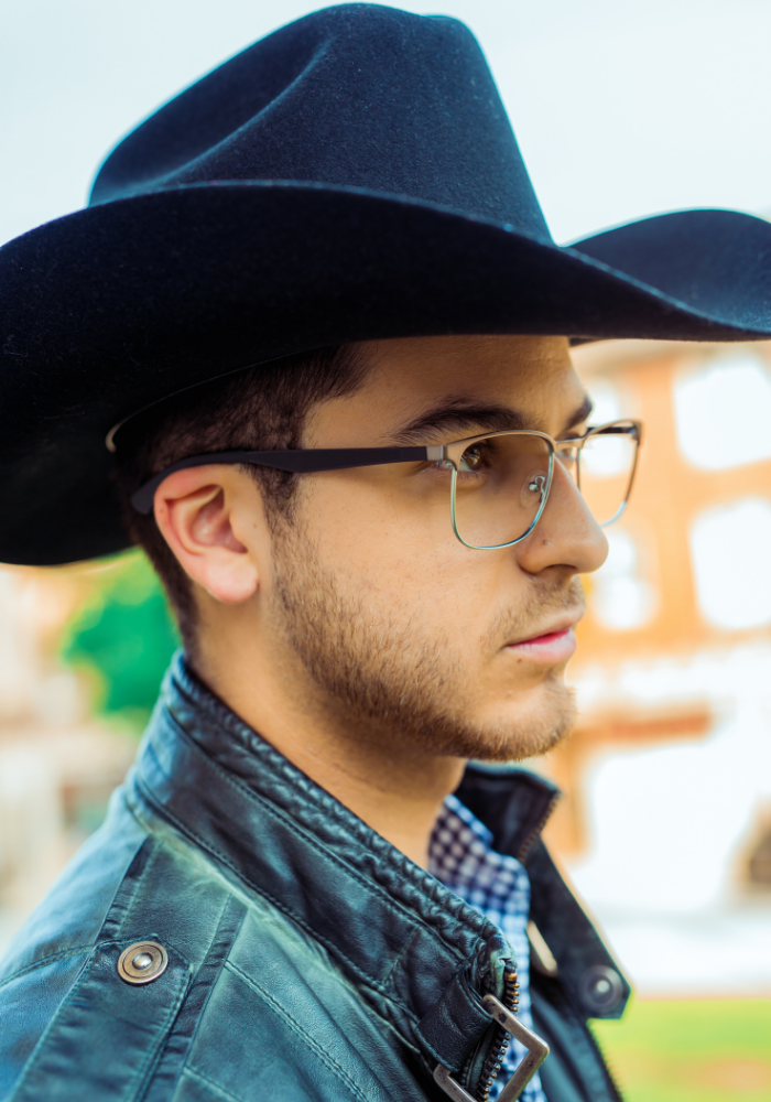 Looking for wider eye glasses Latino frames big eye glasses for men cowboy glasses Latinx eyewear La vida eyewear Latino inspired glasses El Maestro frame El Picaro frame eye exam eyedoctor optometrist