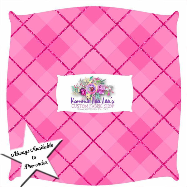 Always Available IN STOCK:   GINGHAM BLISS - HOT PINK BIAS