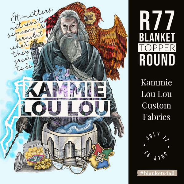 R87 Retail: Wizard World - Dumble - Adult Blanket Topper 58 x 72