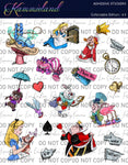 Mad Tea Party - Adhesive Sticker Sheet
