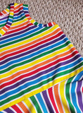 Yarn Dyed Stripes: Rainbow Cotton Lycra Knit