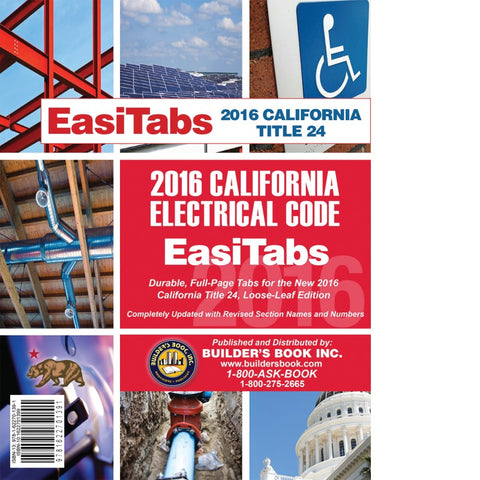 EasiTabs: 2016 California Electrical Code Title 24, Part 3