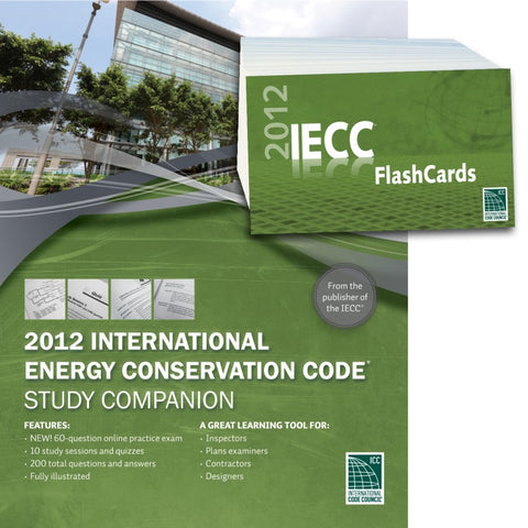 2012 International Energy Conservation Code® Study Companion and Flash Card Combo