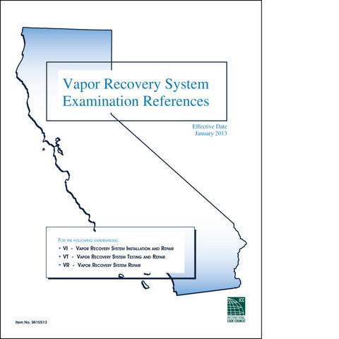 Vapor Recovery System Exam References
