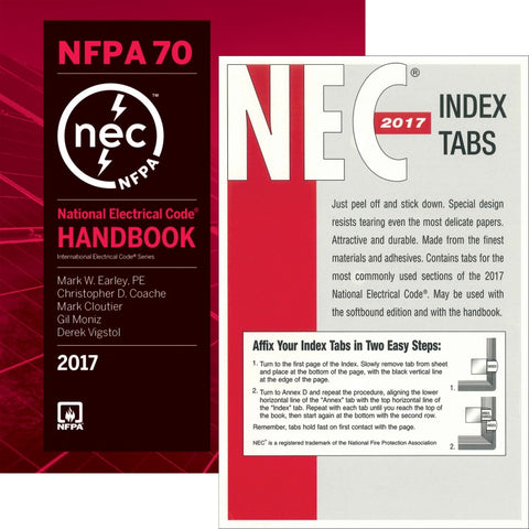 NFPA 70®: National Electrical Code® (NEC®) Handbook, 2017 Edition & Tab Combo