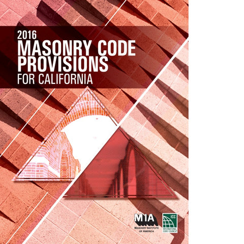 2016 Masonry Code Provisions For California
