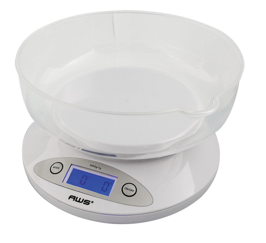 11lbs x 0.1oz AWS Large Table Digital Scale w/Bowl Tray
