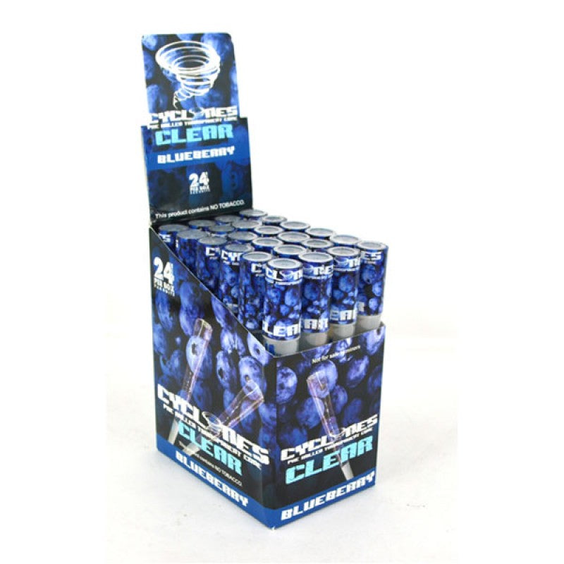 Cyclones Clear Pre-Rolled Cigar Cones - Blueberry