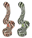 "Black Swirl Bubbler - 6"" / Assorted Colors"