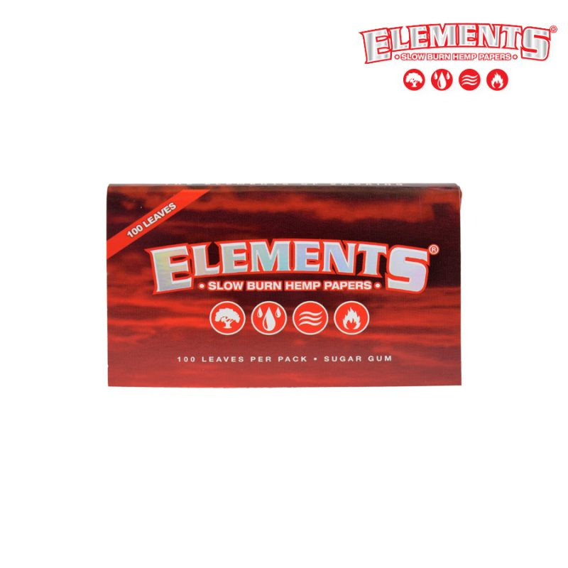 Elements Red Single Wide Slow Burning Papers