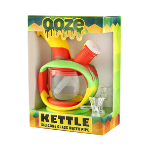 "Ooze Silicone Kettle Waterpipe - 6.25"" Green"