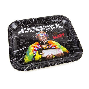 Time and Space Raw Rolling Tray - Large