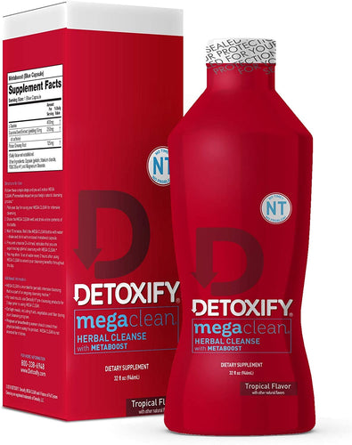 Detoxify Mega Clean 32oz Tropical Fruit Flavor