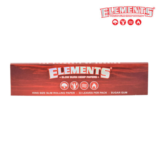 Elements Red Slow Burning King Size Slim