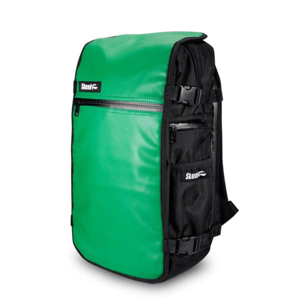 Skunk Face-Off Backpack - Green Leather