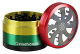 2.5 Grindhouse 4 Piece Pollinator Rasta Clear Top