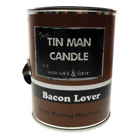 Wax Wick & Flame - Tin Man Candles - Bacon Lover