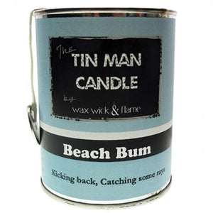 Wax Wick & Flame - Tin Man Candles - Beach Bum