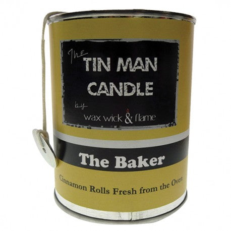 Wax Wick & Flame - Tin Man Candles - The Baker
