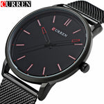 Relogio Masculino 2017 Men's Fashion Casual Sport Quartz Watch Curren Mens Watches Top Brand Luxury Black Steel Men Wristwatches